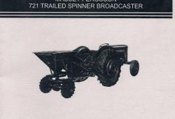 Ferguson 721 Trailed potato Spinner Handbook