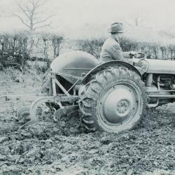 T20 ploughing with the Ferguson two Furrow plough